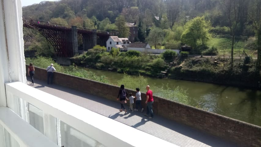 Wonderful view of the Iron Bridge from the large Lounge window