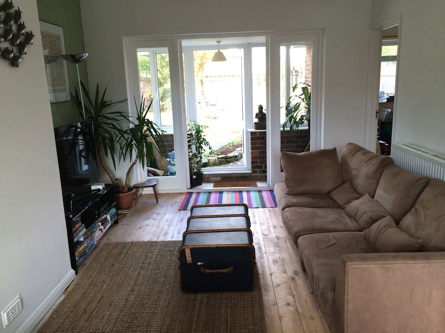 Lounge leading to garden