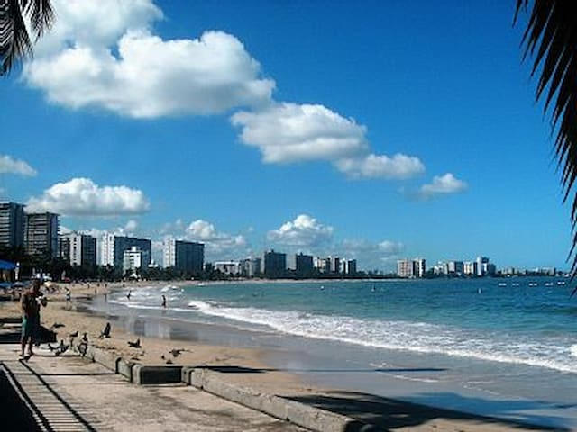 Beachfront Studio Steps to Isla Verde Beach