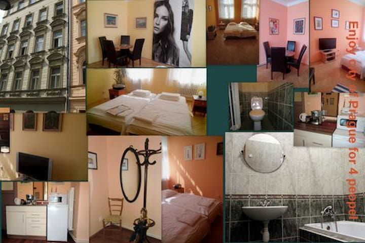 Enjoy city of Prague for 4 people - Praha - Rumah