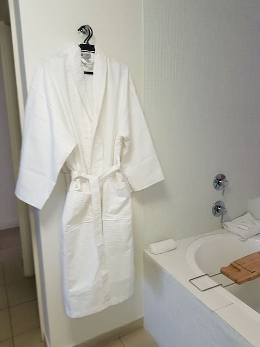 Bathrobes supplied for your convenience