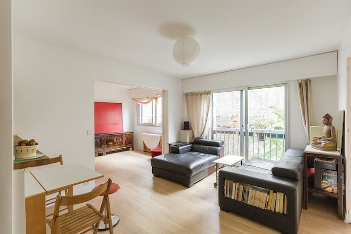 Apartment with garden view in Bastille
