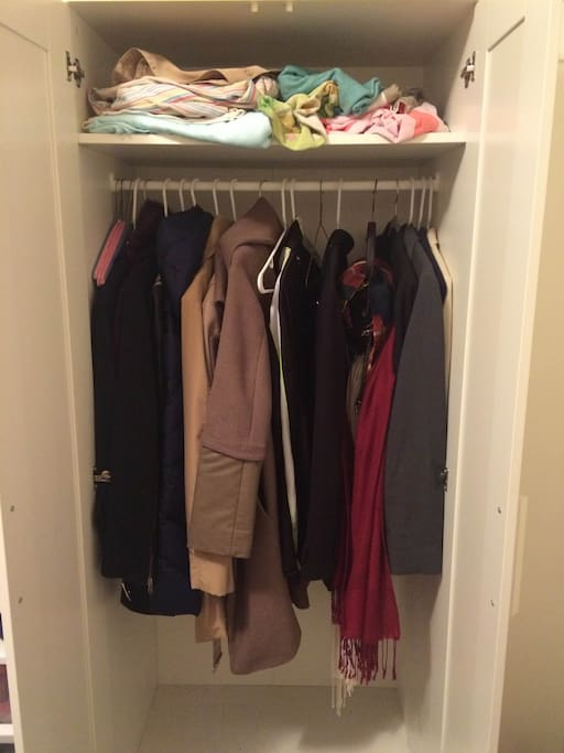 This closet will come cleared out for you to hang your clothes / keep your stuff.