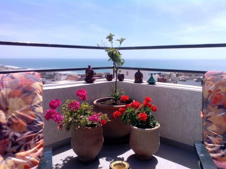 appartement vue sur océan avec 2 terrasses