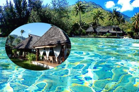 Splendid Polynesian villa with beachfront - Maharepa - 独立屋