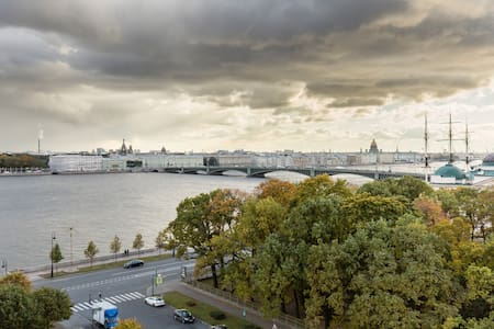 Panorama Neva River View - Flat
