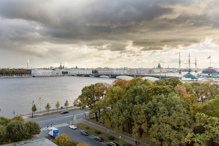 Panorama Neva River View - Flat