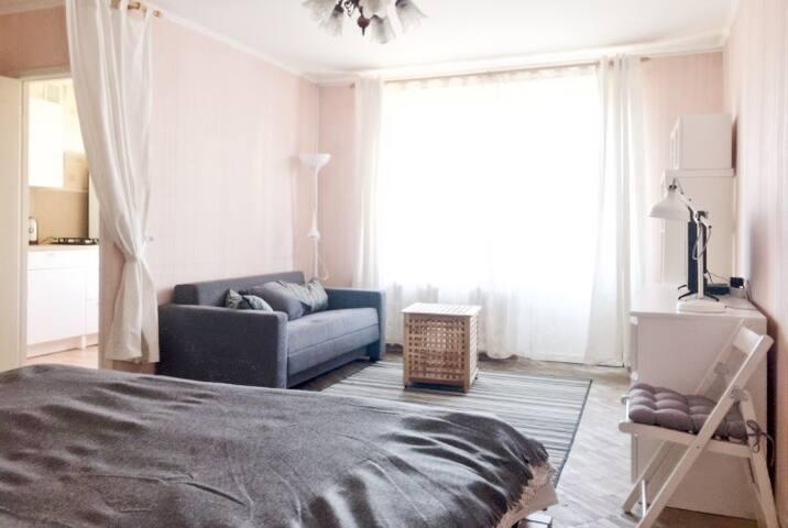 Светлая и уютная квартира в центре Москвы