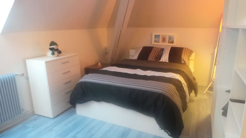 Chambre bleue 1 ou 2 personnes - Guebwiller - Bed & Breakfast