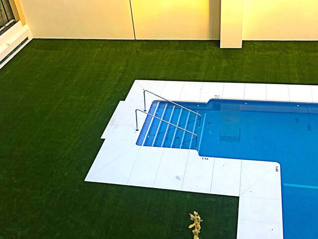 Spacious new apartment with pool