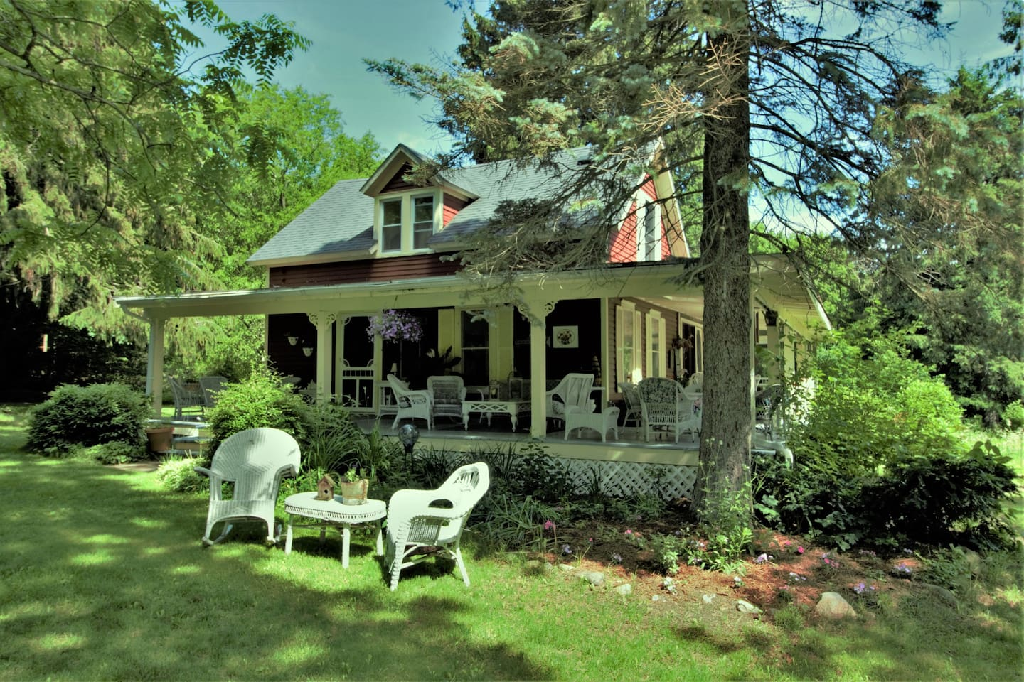 Welcome to my 1861 House. Relax on the  wraparound porch and enjoy the peacefulness of country living.
