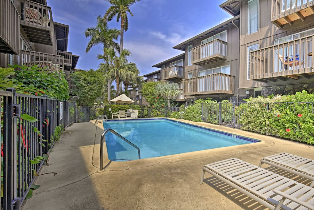 The vacation rental condo is located in the Malia Kai condo complex.