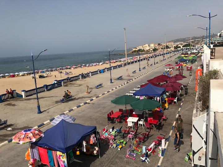 appartement vue sur la plage