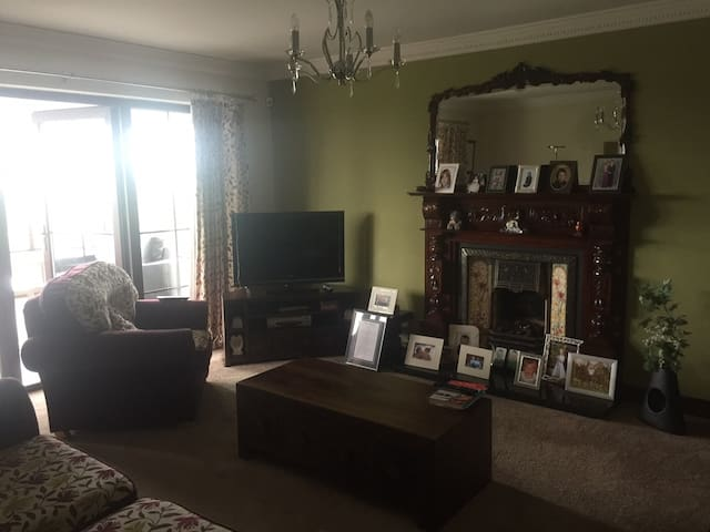 Residents lounge with TV