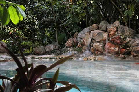 House with cenote style pool: Villa Kaajal