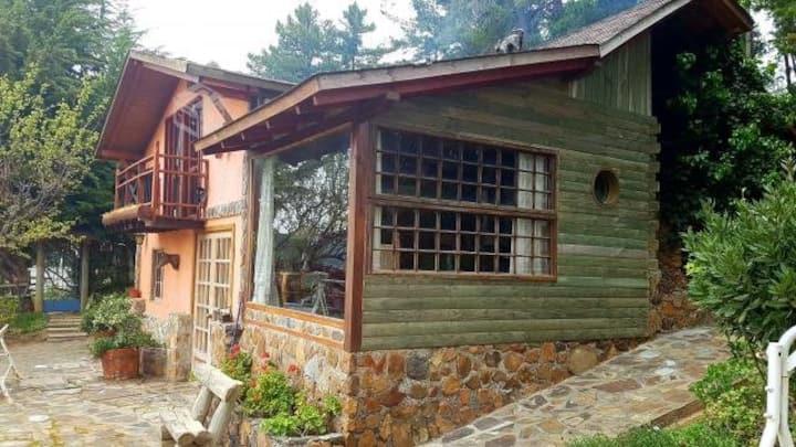 Linda cabaña Rústica Lago Vichuquen
