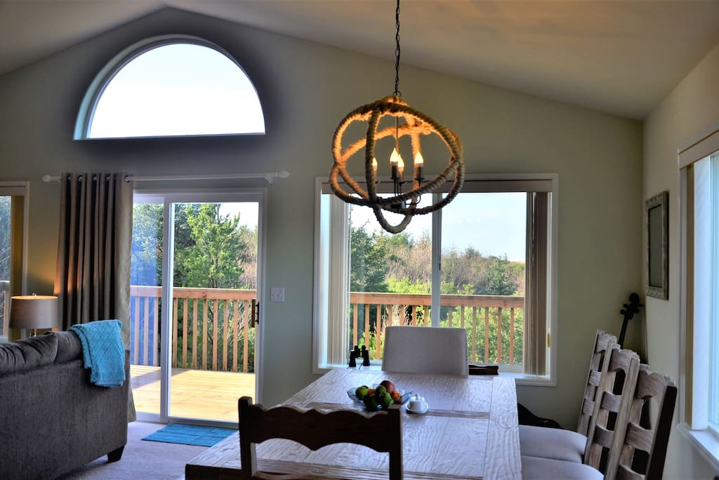 Open dining/Living room, with views.