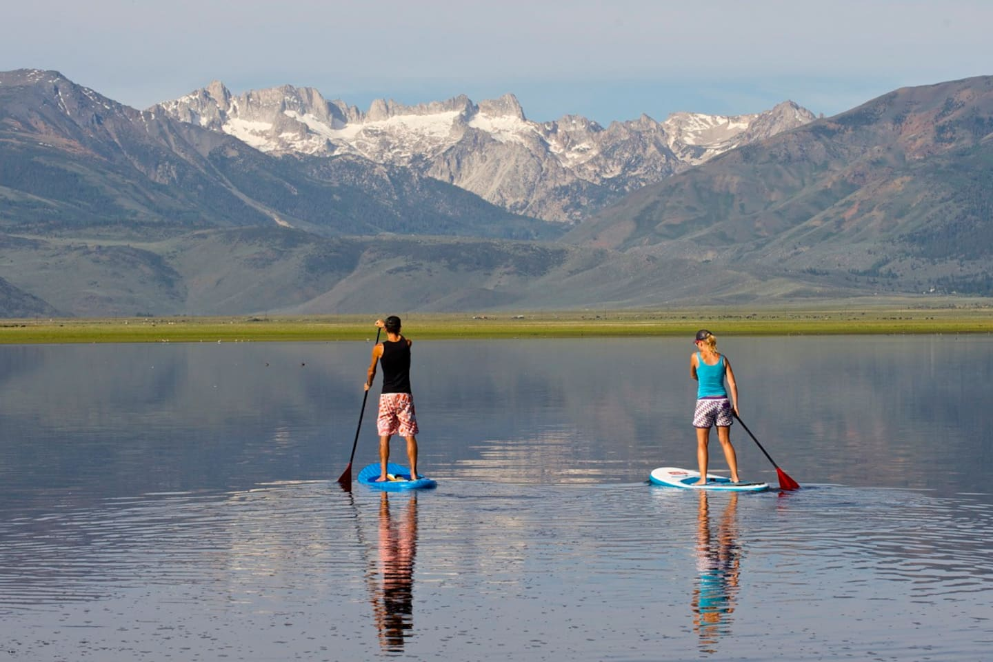 We have kayaks, paddle boat and stand up paddle boards you're welcome to take on the reservoir