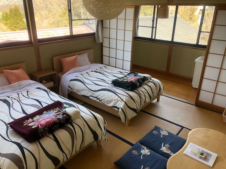☆★Twin bed room☆★『Yufuin Hoshinosato』