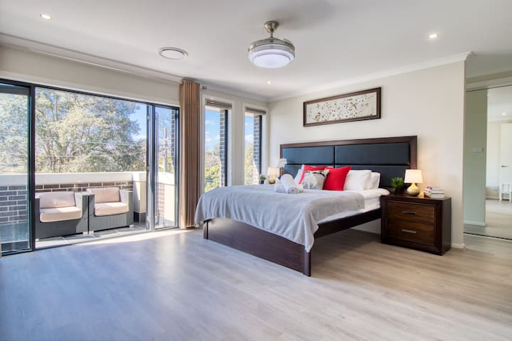 Master bedroom with large walk-in closet and large ensuite.