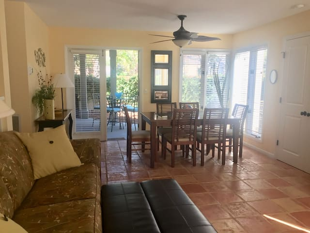 Pet Friendly Island Time Villa, Enclosed Courtyard