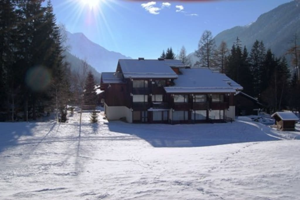 1st Floor Studio Apartment Wouth facing with views over Mont Blanc