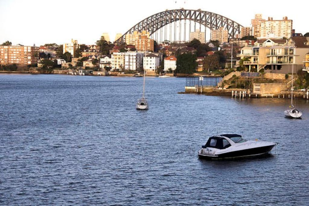 View of Sydney Harbour Bridge from the apartment