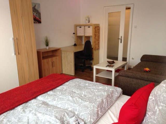 Fair Messe (25 min)- 1 room apartement close city