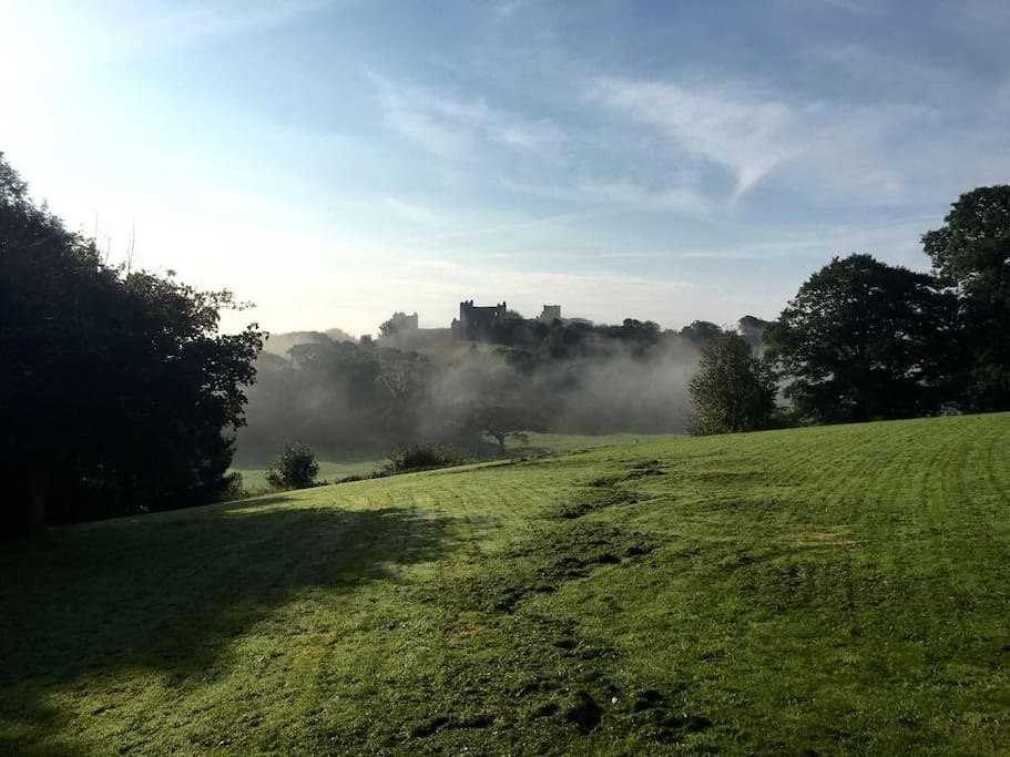 Another view of the Castle through drifting morning mist.