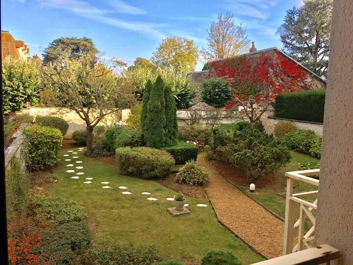 Appartement terrasse 5p avec parking et jardin