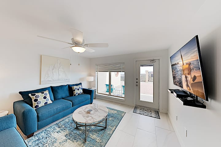 Renovated Gem with Beachfront Patio, Steps to Pool