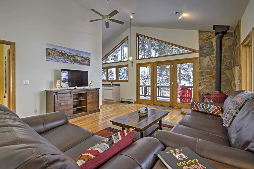 Large windows throughout the interior create a welcoming atmosphere.