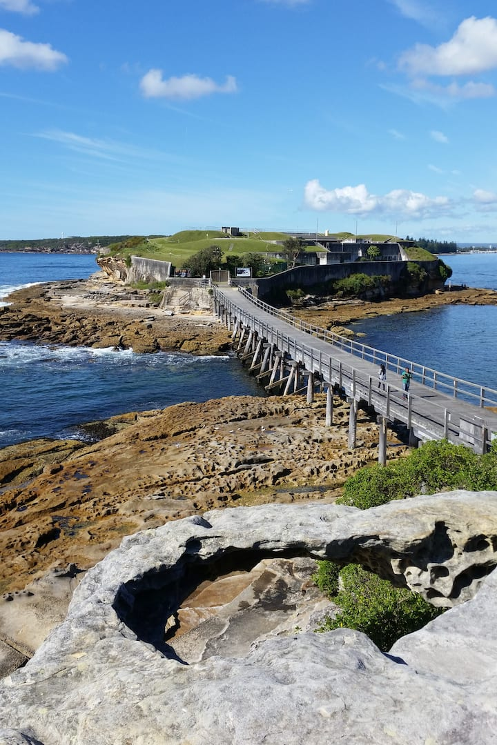 Bare Island, where we'll dive!