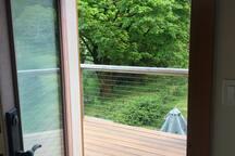 copper room private deck.