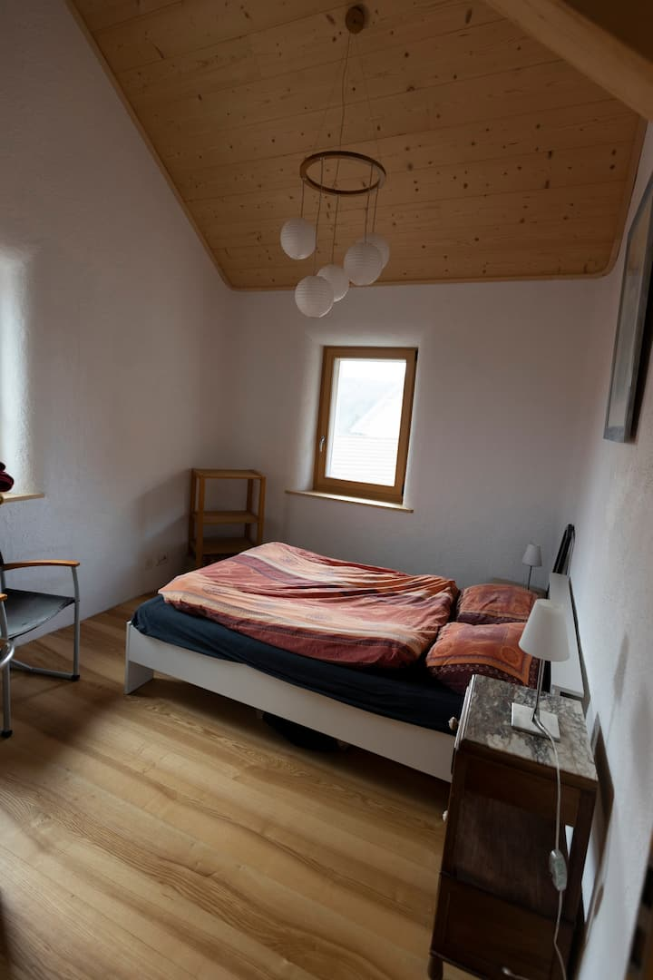 Room in a strawbale house