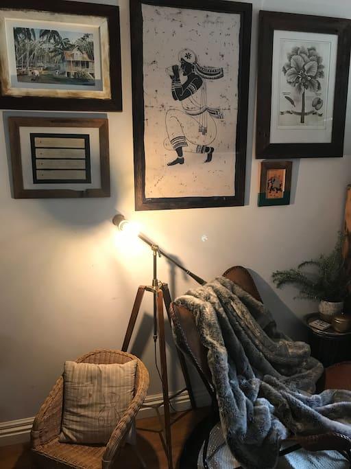 comfy reading corner