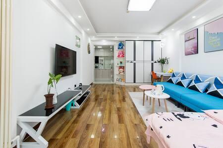 星海广场,拥和平商圈、地铁站和公交枢纽为一体的56平一室一厨一卫私享の温馨の家