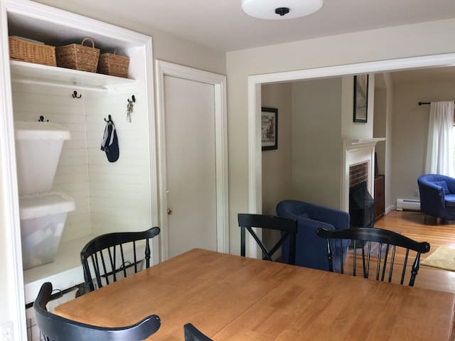 Bright kitchen is off living room and very open