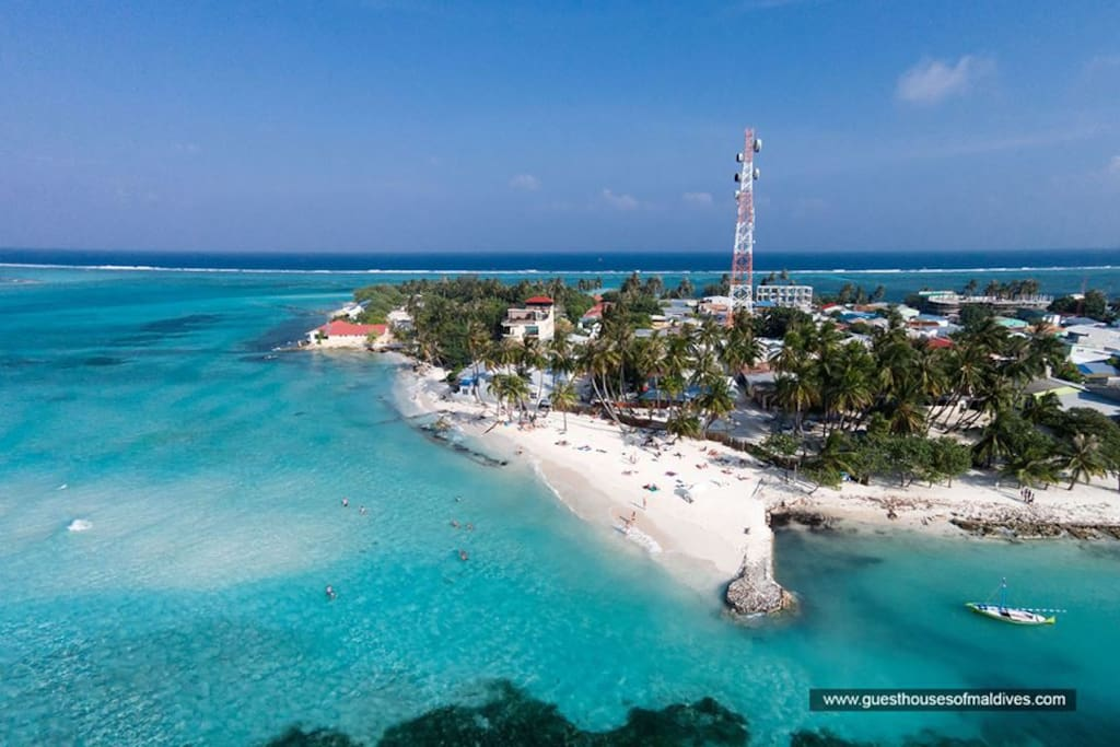 Areal view Maafushi