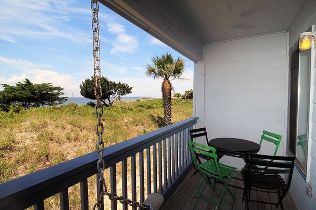 Beautiful View of the Savannah River Entrance and Atlantc Ocean from your Private Balcony