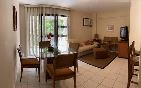 Apartamento inteiro  confortável em frente à praia