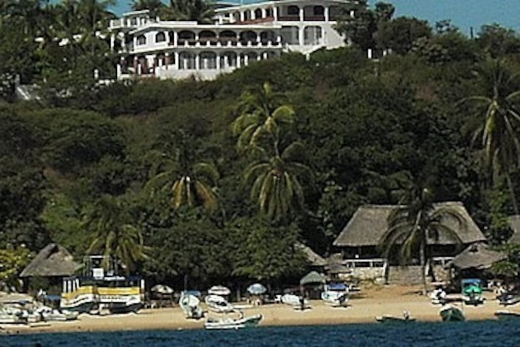 Condos from the water at Angelito beach