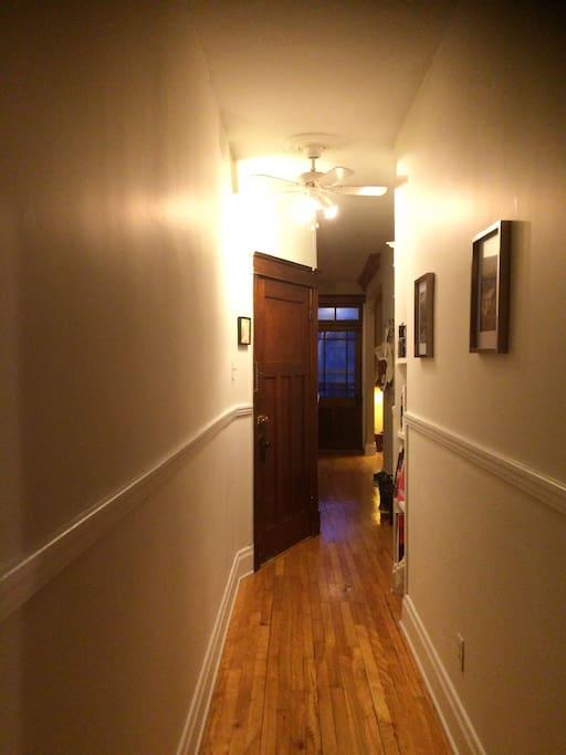 L'entrée et le couloir