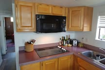Fully Equipped Kitchen with Microwave/Convection -  NO OVEN,