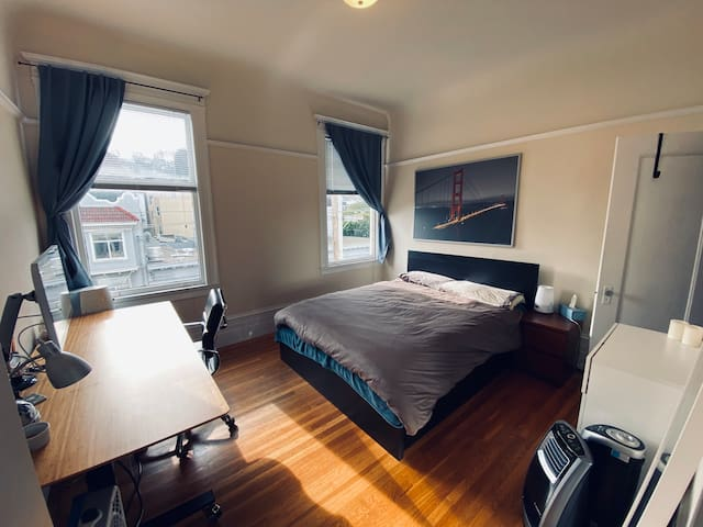 Convenient, comfortable Cole Valley bedroom