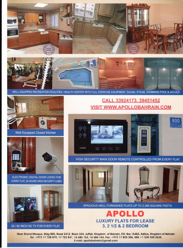 BAHRAIN FULLY FURNISHED APARTMENT FOR FAMILY, EXECUTIVES