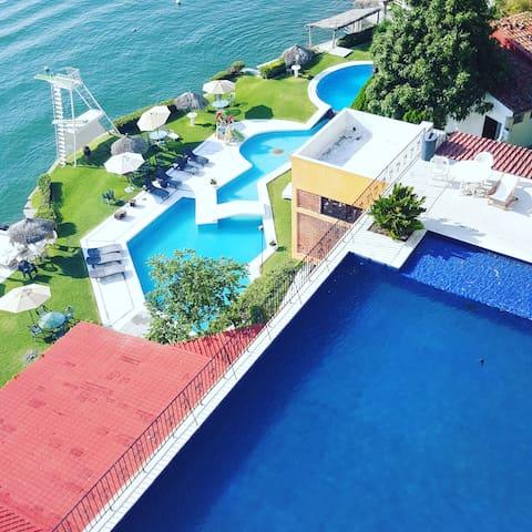 Departamento a orilla del lago en Tequesquitengo - Morelos - Lägenhet