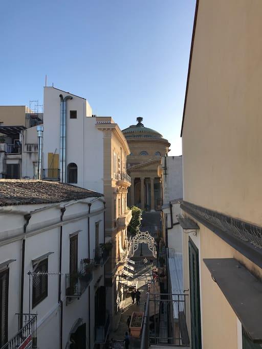 Vista da balcone
