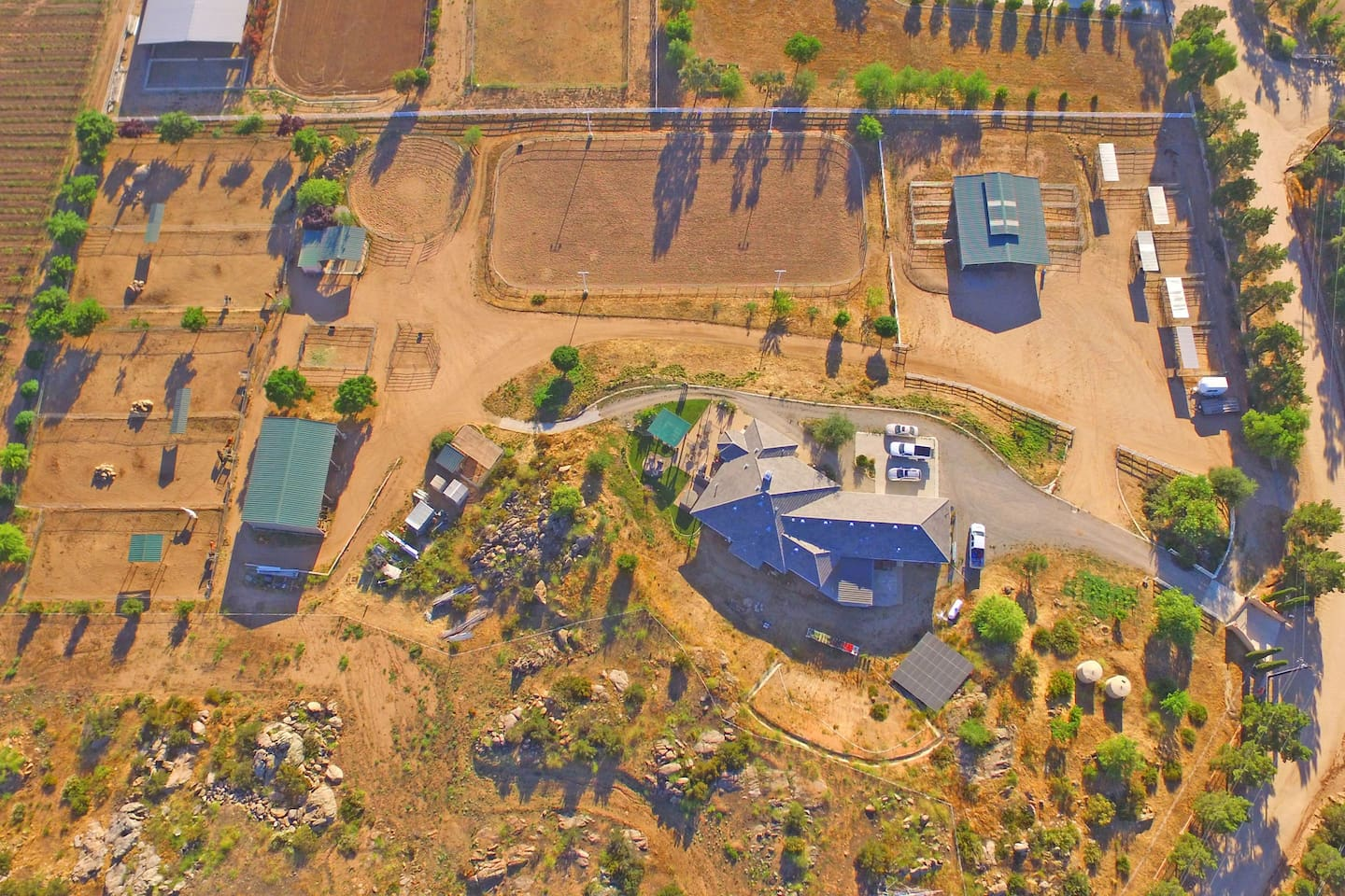 Drone aerial photo of our ranch.