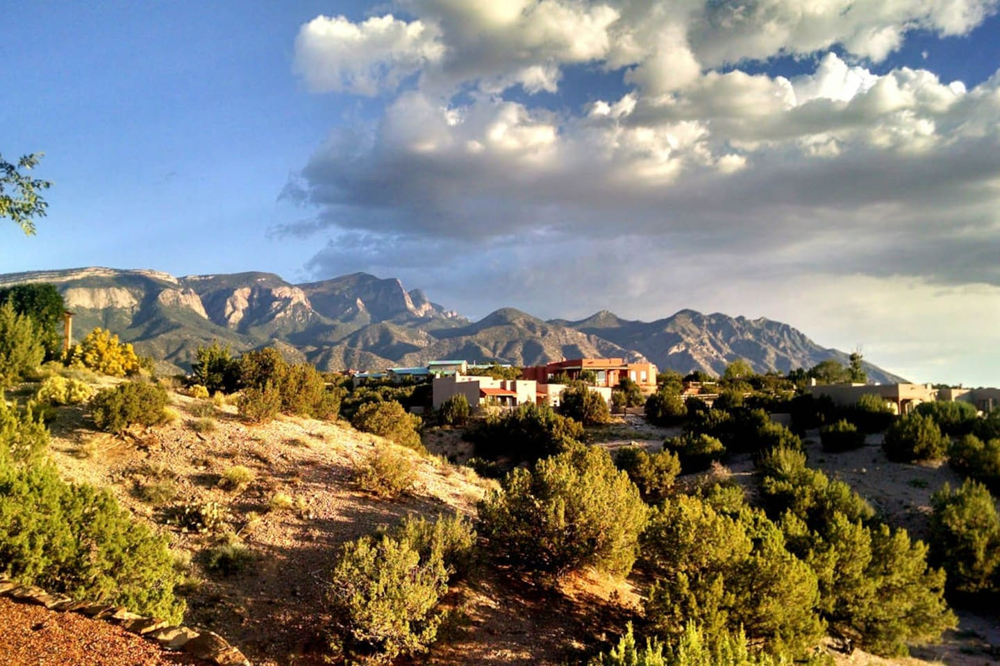 View of the Sandia Mountains changes every day.